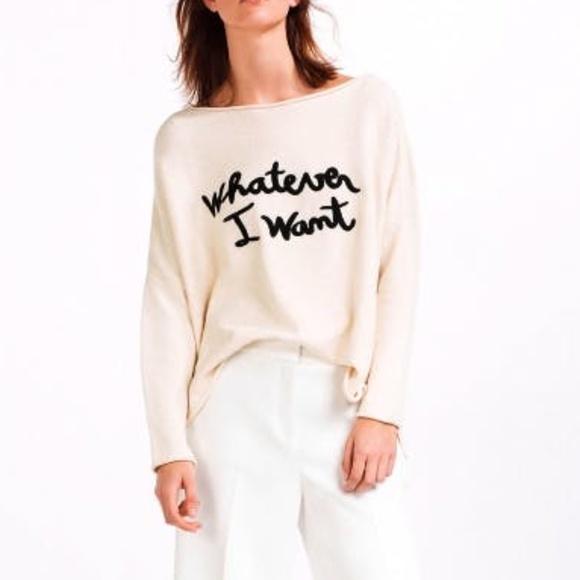 Zara Sweaters - ZARA Whatever I Want Oversized Sweater Size Medium